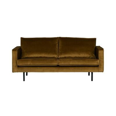 2,5-Sitzer Sofa Rodeo Samt | Honiggelb