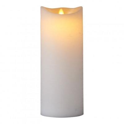 LED-Kerze Sara Spa Exclusive H 25 cm | Weiß