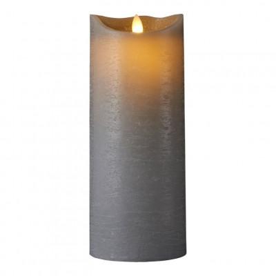 LED-Kerze Sara Spa Exclusive H 25 cm | Grau