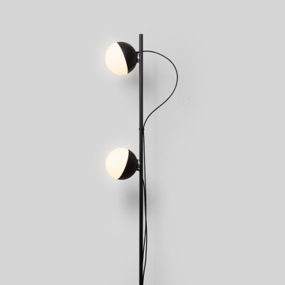 Stehlamp Half 2 Kugeln | Matt Schwarz