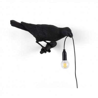 Lamp Bird Looking Right | Black