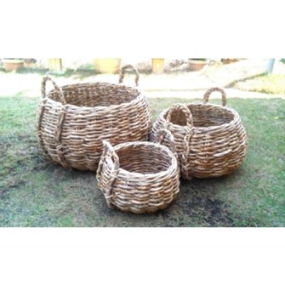 Bowl Abaca Set of 3 | Natural
