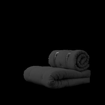 Stuhlschnalle | Dunkelgrau mit braunem Gürtel