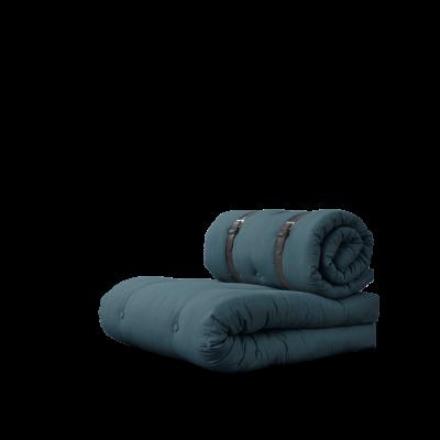 Stuhlschnalle | Benzinblau mit braunem Gürtel