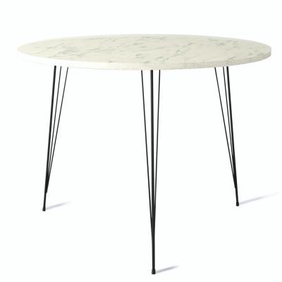 Tisch Sandalf Marmo   Schwarz-Weiß