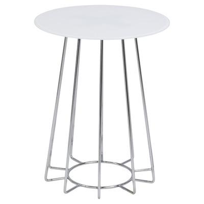 Couchtisch Casia Glas | Weiß & Chrom