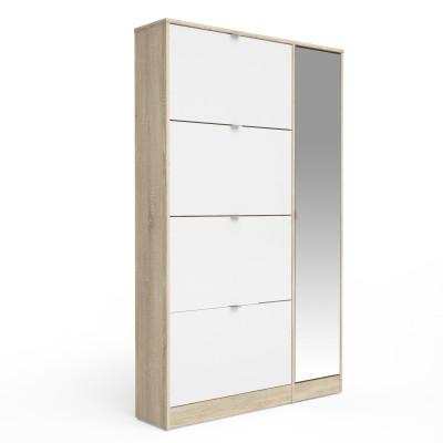 Kleiderschrank mit 4 Türen & 1 Spiegeltür   Weiß