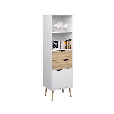 Bücherregal   Scandi-Stil   Weiß