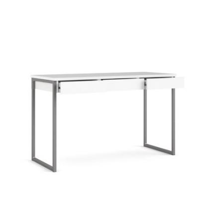 Linearer Schreibtisch mit 3 Schubladen   125 x 76 x 51 cm   Weiß