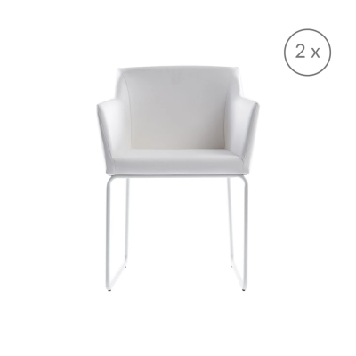 2er-Set Stühle Norwich | Weiß