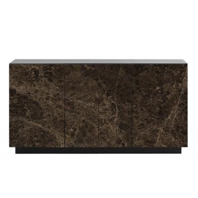 Sideboard Gorizia 160x45x85   Dunkler Marmor Matt-Matt Schwarz