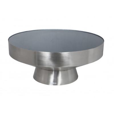 Beistelltisch TEBE   Silber & Schwarz