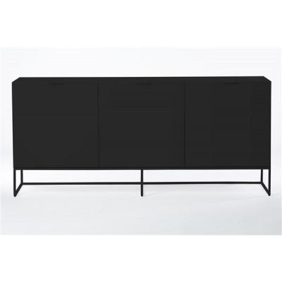 Sideboard Xian 180x45x80   Mattschwarz