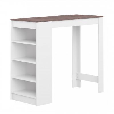 Aravis Bar Esstisch | Weiß & Beton