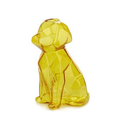 Vase Sphinx Hund 15 cm   Bernstein