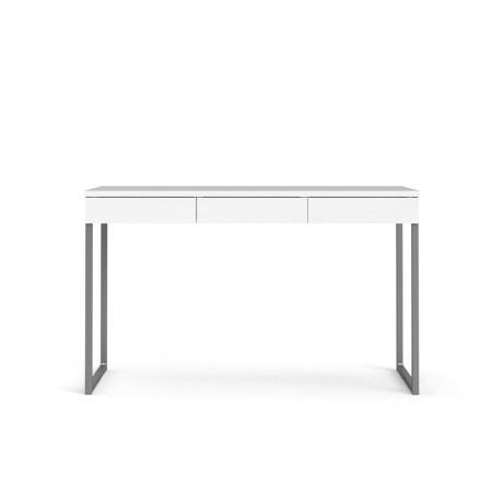 Linearer Schreibtisch mit 3 Schubladen | 125 x 76 x 51 cm | Weiß