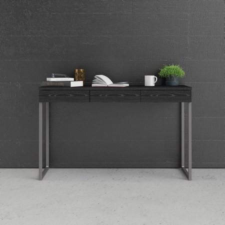Linearer Schreibtisch mit 3 Schubladen | 125 x 76 x 51 cm | Schwarz
