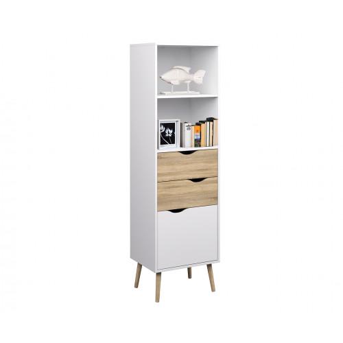 Bookcase   Scandi Style   White