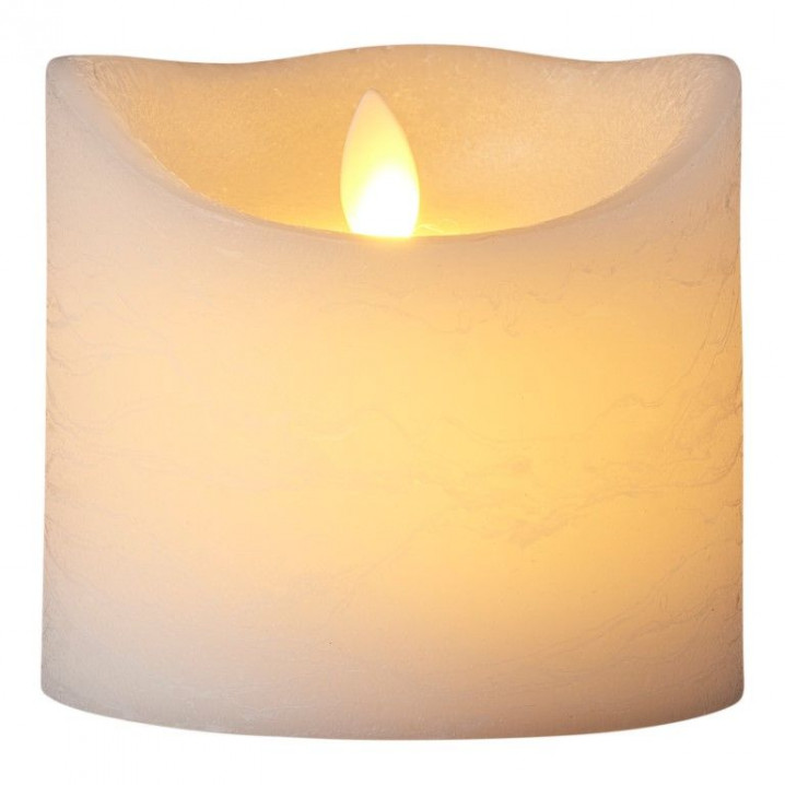 LED-Kerze Sara Spa Exclusive H 10,5 cm   Weiß