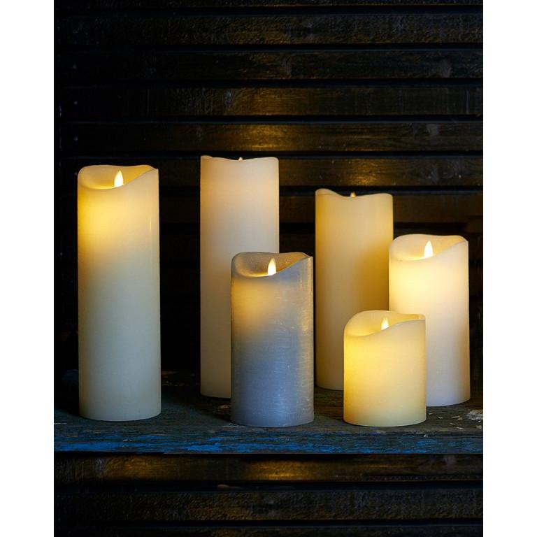 LED-Kerze Sara Spa Exclusive H 20 cm | Weiß
