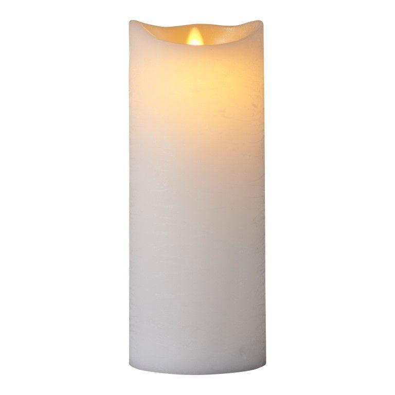 LED-Kerze Sara Spa Exclusive H 25 cm   Weiß