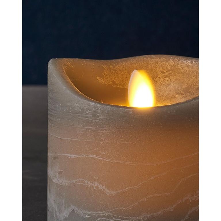 LED-Kerze Sara Spa Exclusive H 25 cm   Grau