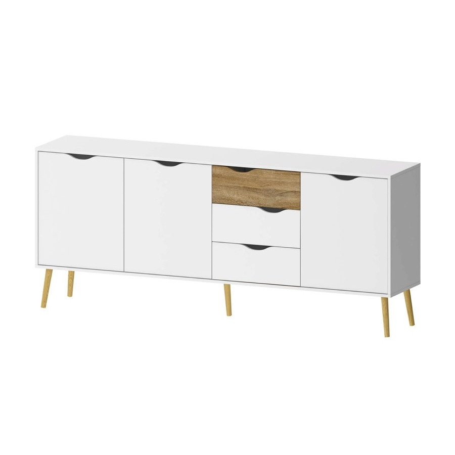Sideboard with 3 Doors & 3 Drawers | White
