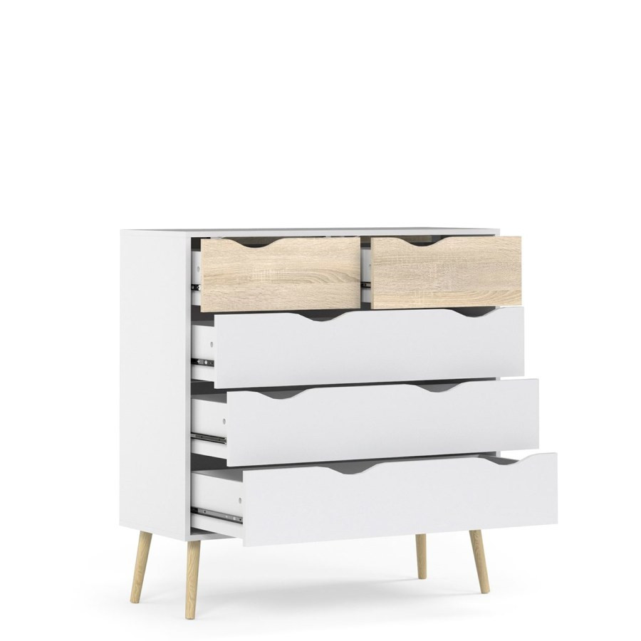 Chest of Drawers   5 Drawers   White