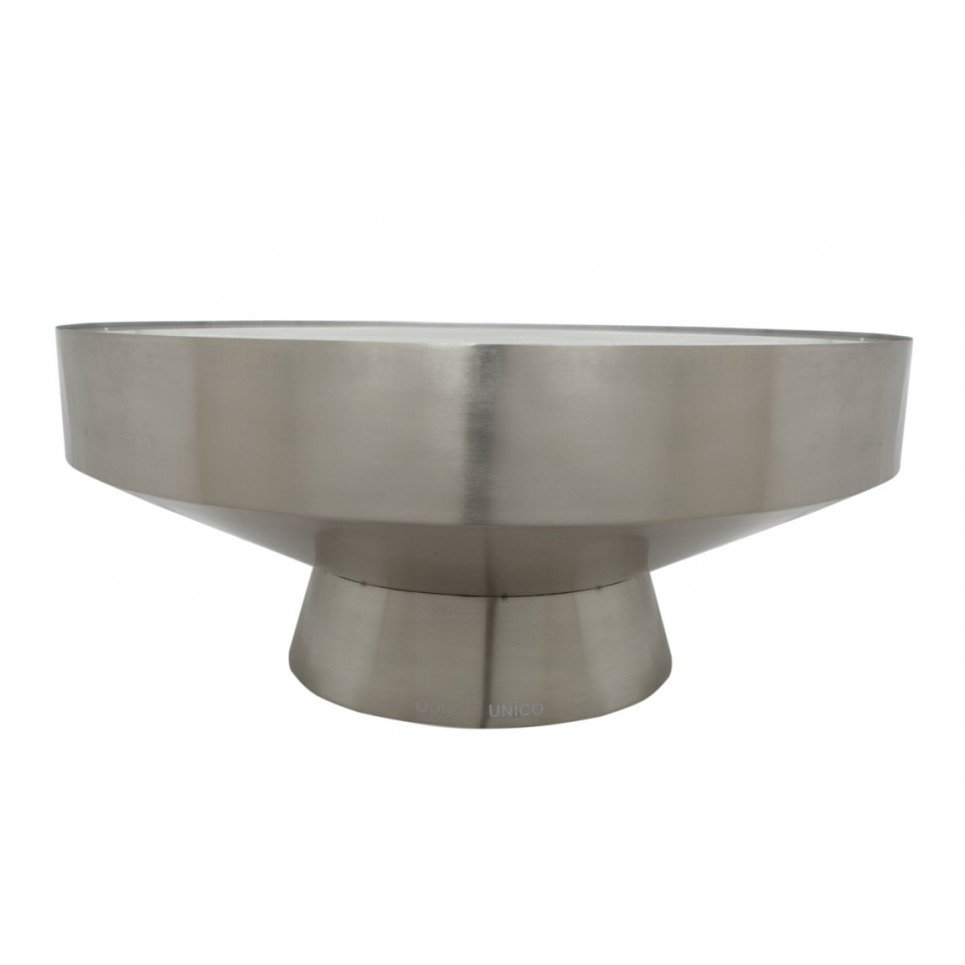 Side Table TEBE   Silver & Black