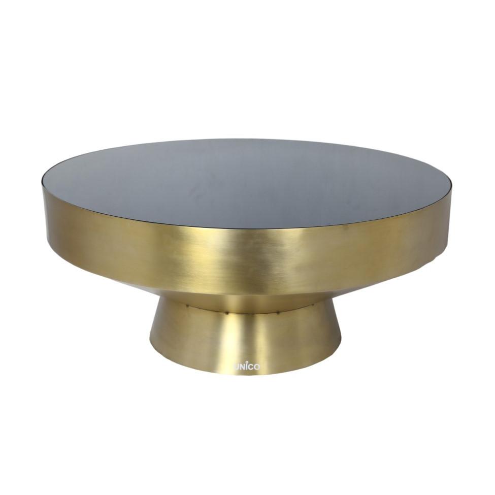 Side Table TEBE | Gold & Black