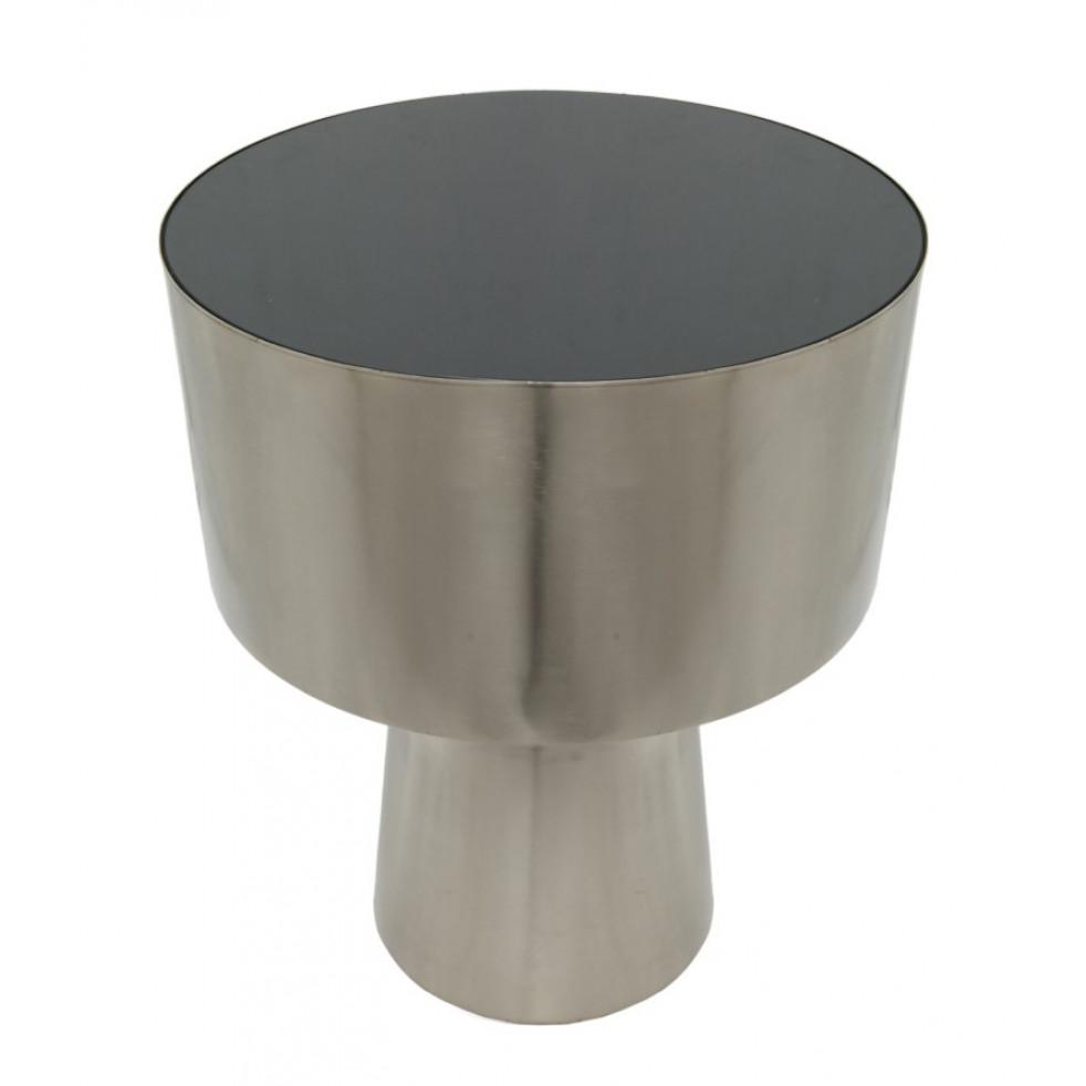 Side Table NAXOS | Silver & Black