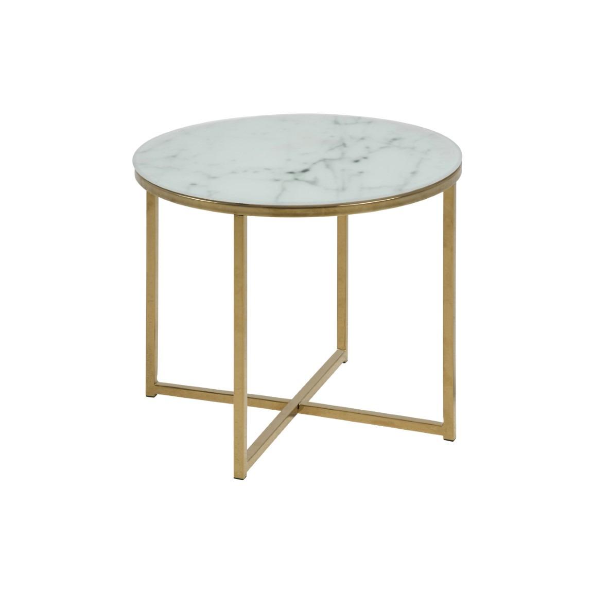 Coffee Table Alisma Ø 50   White Marble