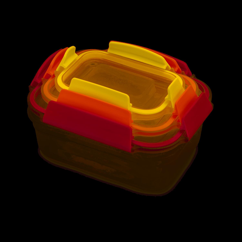 Satz von 3 Lebensmittelbehälter Nest Lock