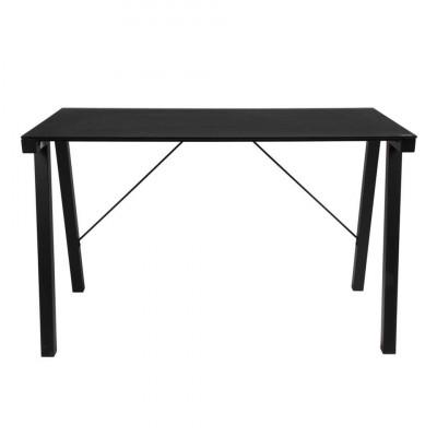 Schreibtisch-Zykloon aus Glas | Schwarz