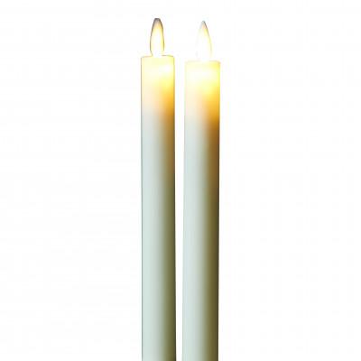 2-er Set Geführte Dinner-Kerzen Sara | Mandel