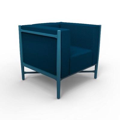Loka Armchair | Beech/Blue