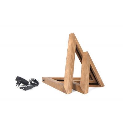 2er Set LED Tischlampen KN03 | Holz