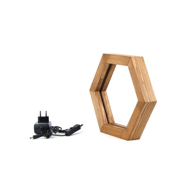 LED Tischlampe KN07 | Holz