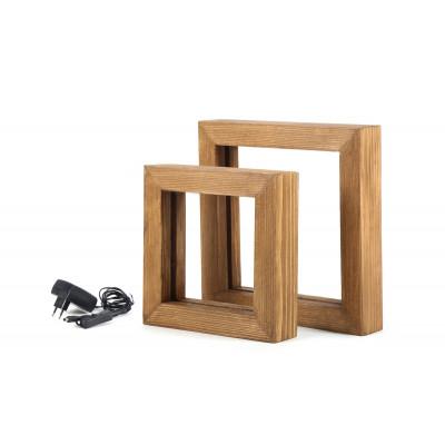 2er Set LED Tischlampen KN11 | Holz