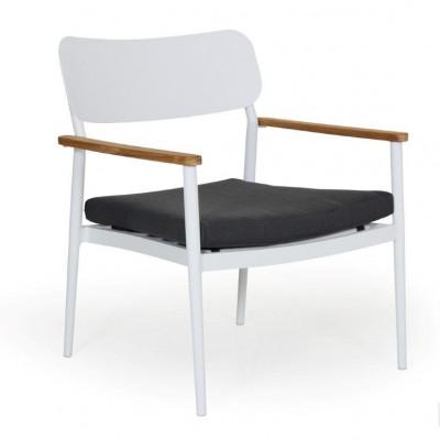 Domingo Lounge Chair | Weiß & Grau