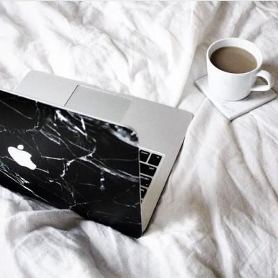 Black Marble Sticker for MacBook