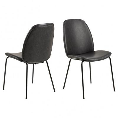 Stuhl Mita | 2er-Set | Schwarz