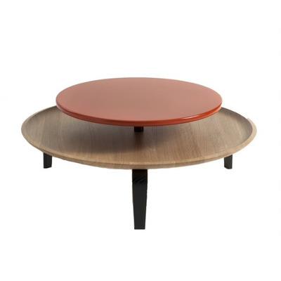 Coffee Table | Oak Wood/Orange