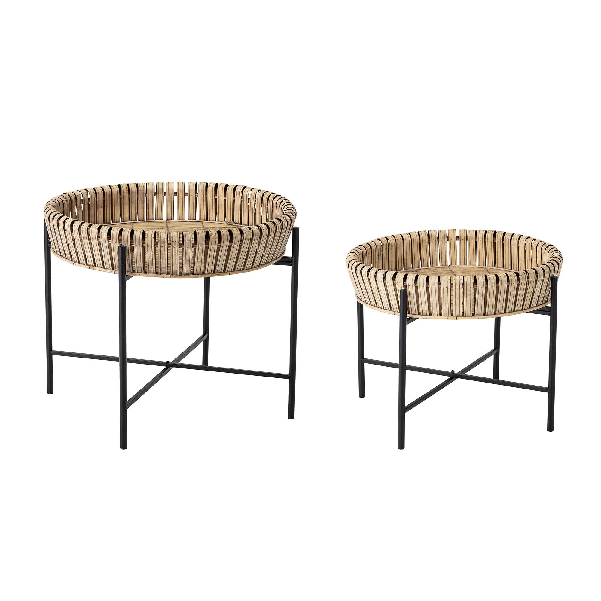 Set of 2 Side Tables   Natural