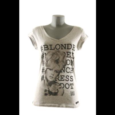 Brigitte T-Shirt Women V-Neck- Grey