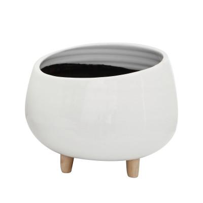 Blumentopf Keramik | Weiß