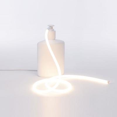 Harz Led Lampe Soapglow | Weiß