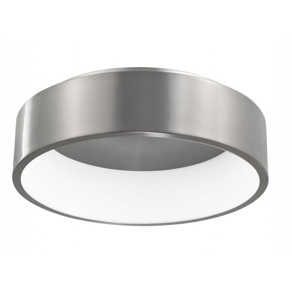 Deckenleuchte Rando H 11 cm Ø 45 cm   Aluminium Gebürstet
