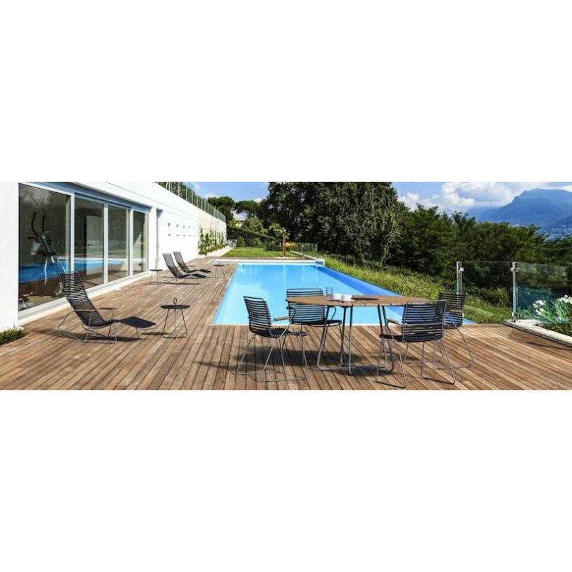 Garten-Esstisch-Kreis für den Außenbereich | Ø 110 cm