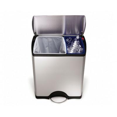 Abfalleimer Classic Recycler   30 + 16 L   SilberSH 006826